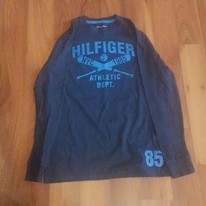 2/$20 blue Boys Tommy Hilfiger long sleeve t shirt
